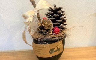 11・12月「手のひらサイズのクリスマスアレンジポット」